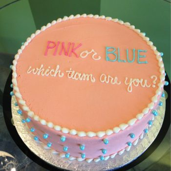 Gender Reveal Cake - Pink Team