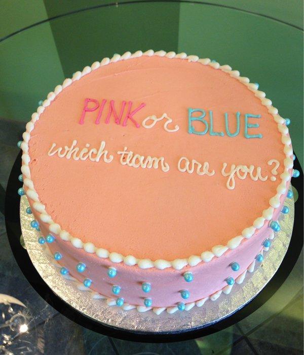Gender Reveal Layer Cake Classy Girl Cupcakes