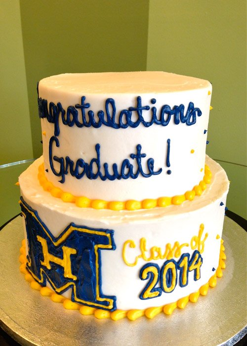 Graduation Logo Tiered Cake
