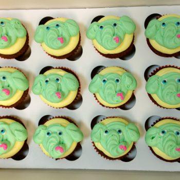 Elephant Cupcakes - Green