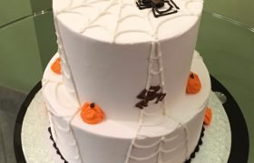 Halloween Spiderweb Tiered Cake