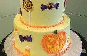 Halloween Tiered Cake
