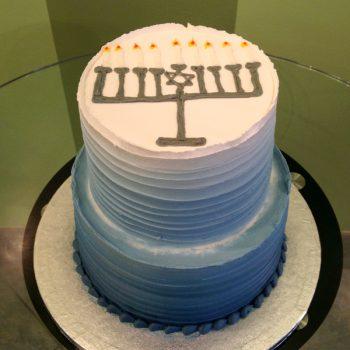 Hanukkah Tiered Cake