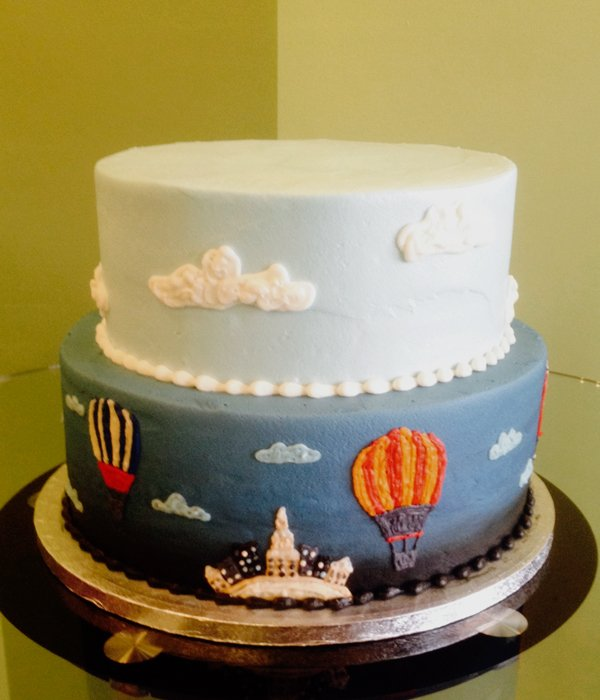 Hot Air Balloon Tiered Cake
