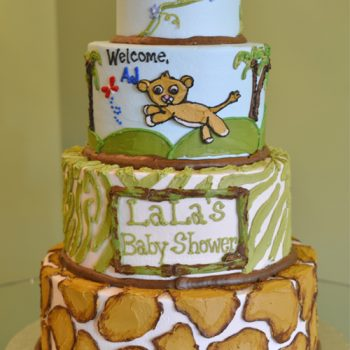 Jungle Print Tiered Cake