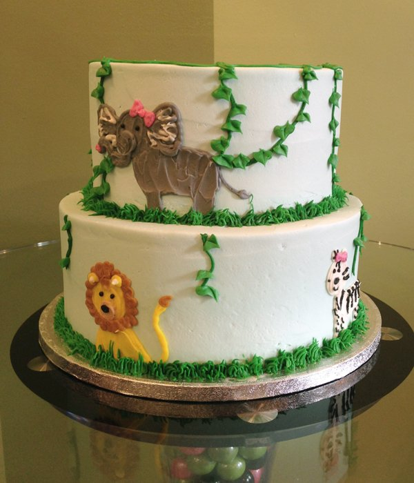 Jungle Tiered Cake - Back