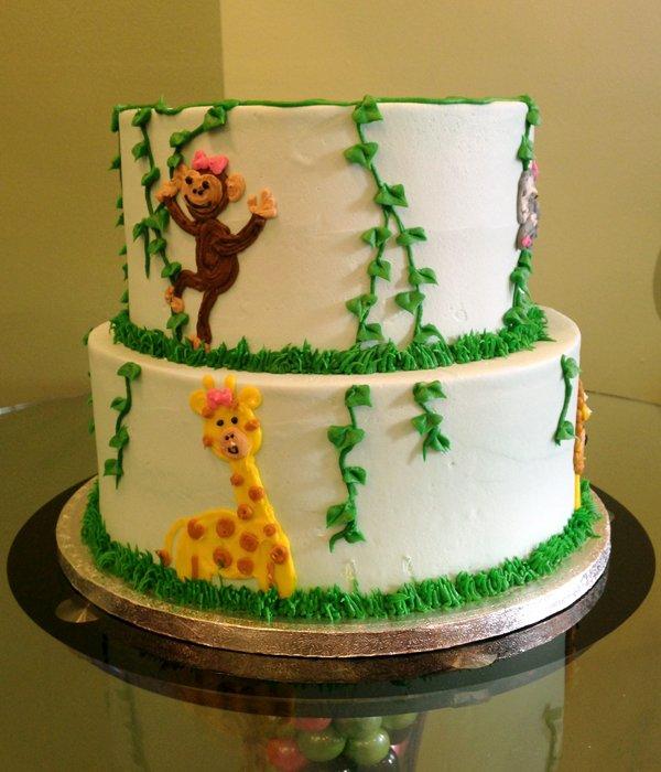 Jungle Tiered Cake