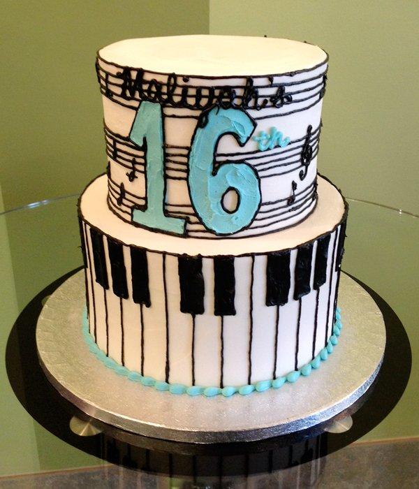 Music Piano Keys Tiered Cake Classy Girl Cupcakes