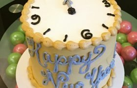 New Years Clock Layer Cake