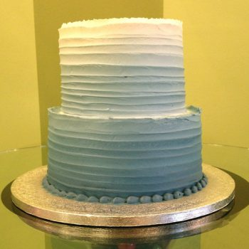 Anabelle Ombre Tiered Cake - Blue