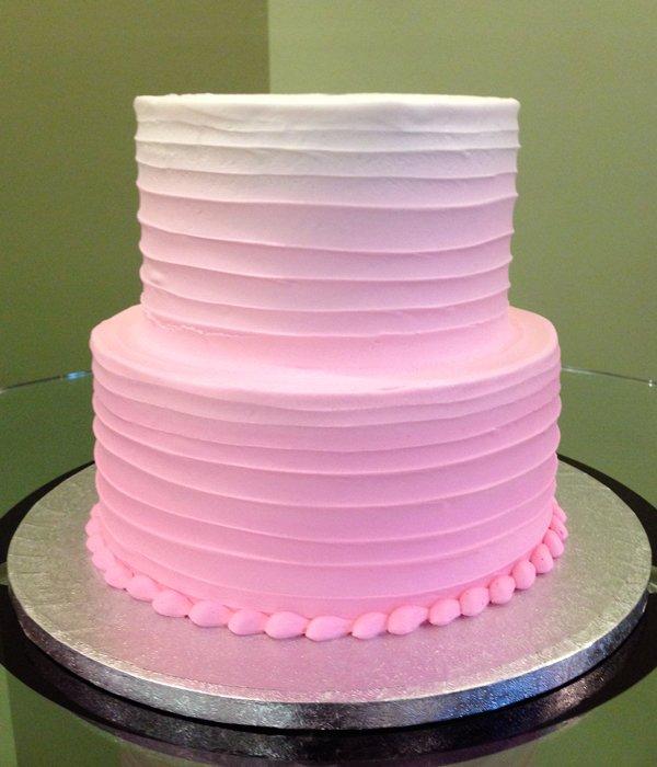 Ombre Ribbon Cake