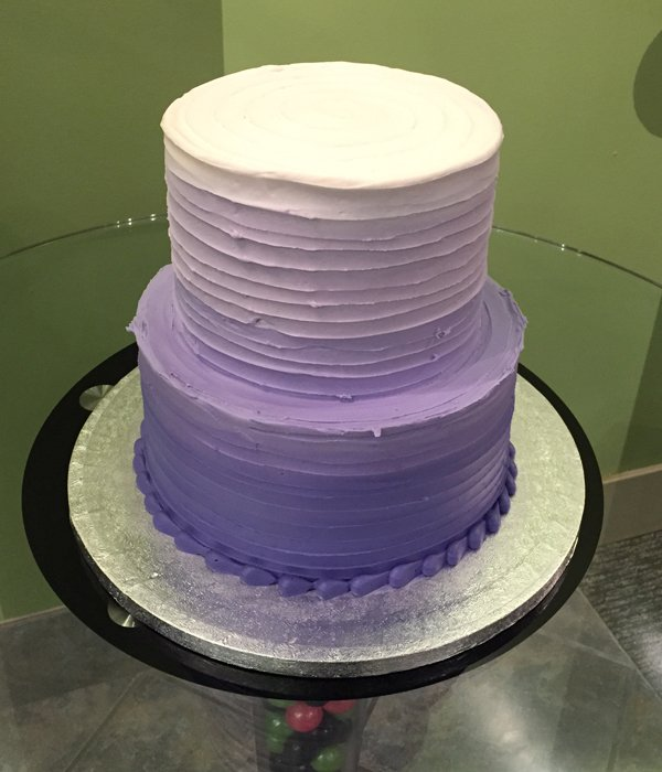 Purple To Pink Ombre Cake
