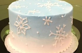 Snowflake Ombre Layer Cake