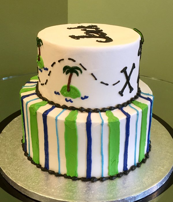 Pirate Tiered Cake - Side