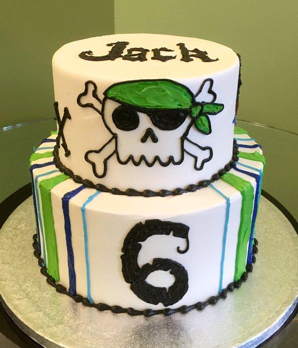 Pirate Tiered Cake - Jack