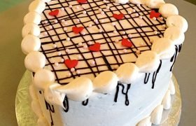 Plaid Heart Layer Cake
