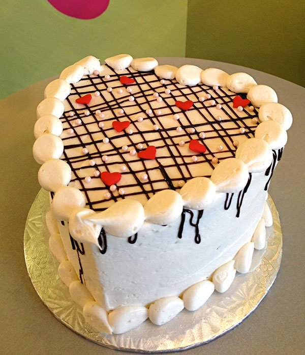 Plaid Heart Layer Cake