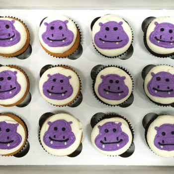 Hippo Decorated Cupcakes