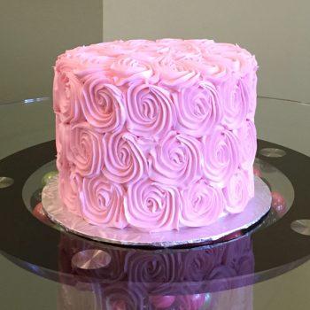 Rosette Layer Cake - Pink