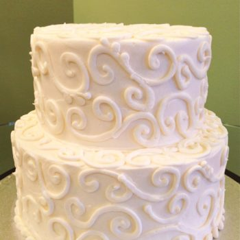 Scroll Tiered Cake