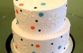 Snowflake Confetti Tiered Cake