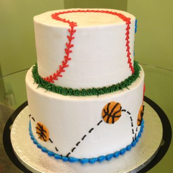 Sports Tiered Cake