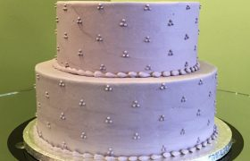 Swiss Dot Tiered Cake