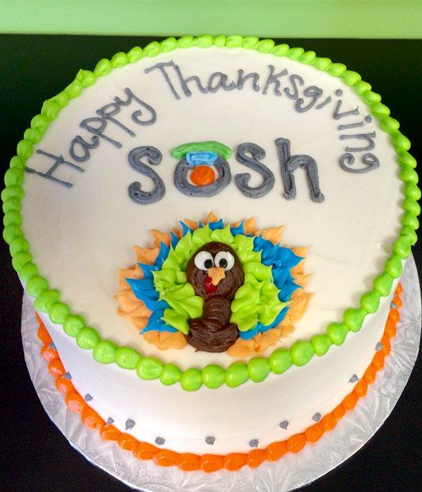 Thanksgiving Turkey Layer Cake