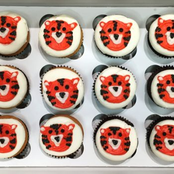 Tiger Decorated Cupcakes