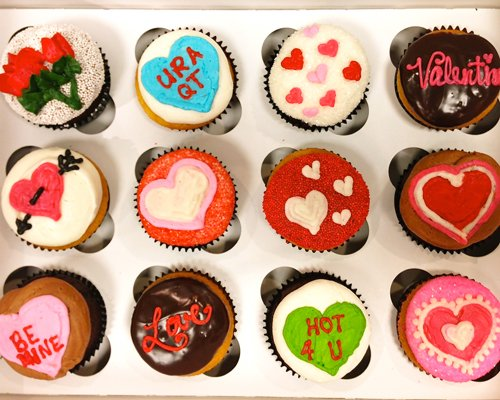 Valentines Day Cupcakes - Candy Hearts