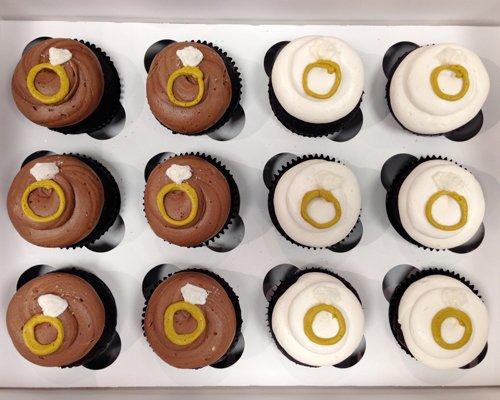 Wedding Ring Cupcakes