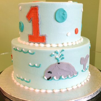 Whale Tiered Cake