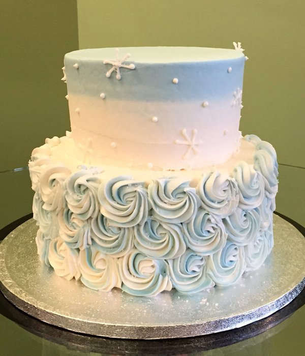 Rosette Ombre Tiered Cake