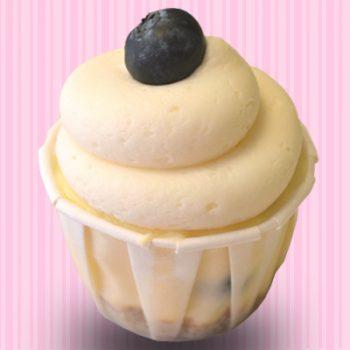 Blueberries & Cream Cheesecake Cupcake