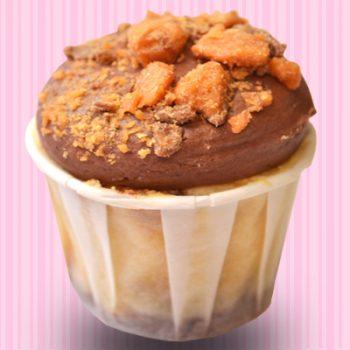 Butterfinger Cheesecake Cupcake