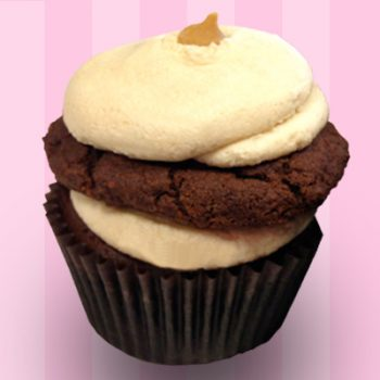 Chocolate Peanut Butter Cookie Cupcake