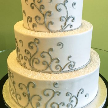 Devon Wedding Cake - Grey