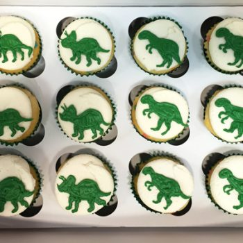Dinosaur Decorated Cupcakes - Vanilla