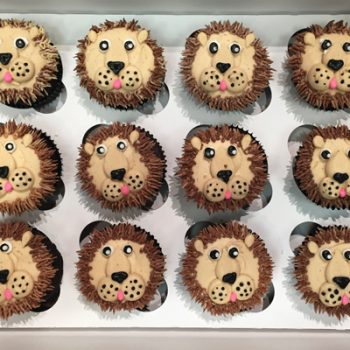 Lion Decorated Cupcakes