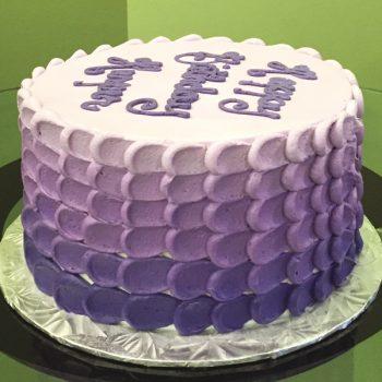 Nia Ombre Layer Cake - Purple