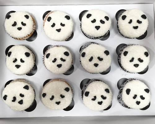 Panda Decorated Cupcakes