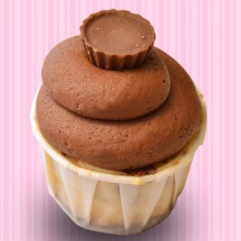 Peanut Butter Cup Cheesecake Cupcake