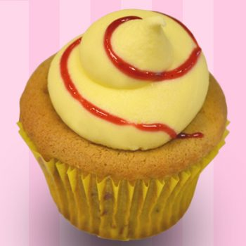 Raspberry Lemon Cupcake