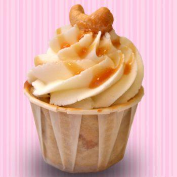 Salted Caramel Cashew Cheesecake Cupcake