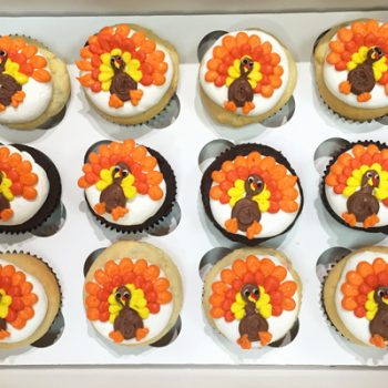 Turkey Decorated Cupcakes