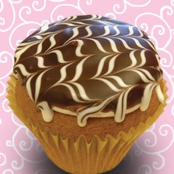 Boston Cream Jumbo Filled Cupcake