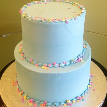 Confetti Tiered Cake - Blue