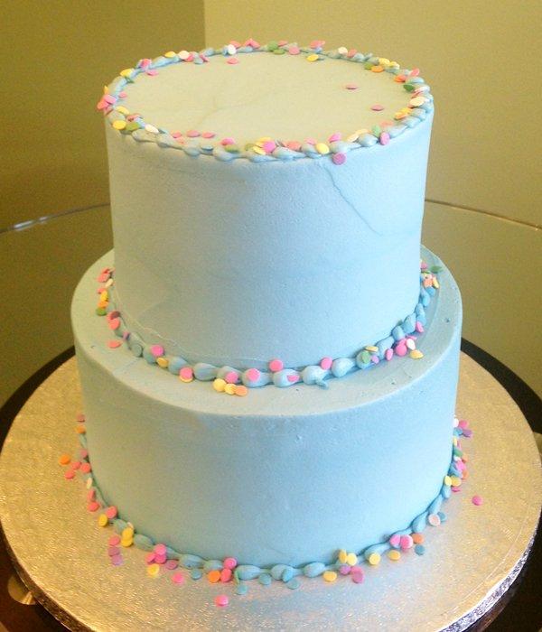 Confetti Tiered Cake - Blue