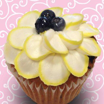 Lemon Blueberry Jumbo Filled Cupcake