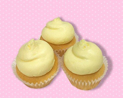 lemon pound cake mini cupcake natural lemon flavored pound cake topped ...